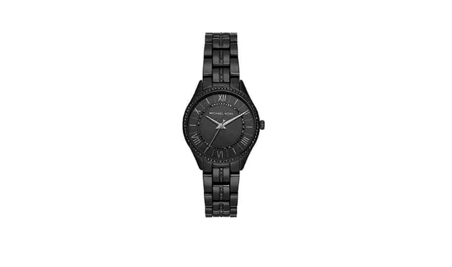 fa78143cc3ca2 Michael Kors Watches Women s Mini Lauryn، هذه الساعة النسائية تحتوي على  ثلاثة عقارب للساعة مصنوعة من الفولاذ المقاوم للصدأ، الساعة سوداء من الفولاذ  المقاوم ...