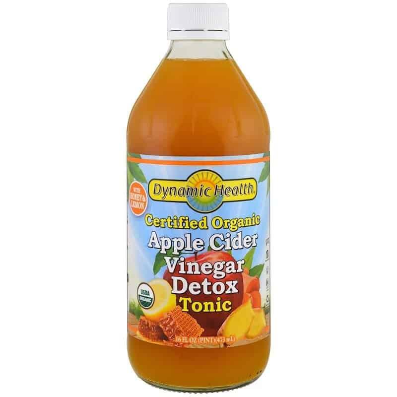 خل عصير التفاح العضوي المعتمد من Dynamic Health