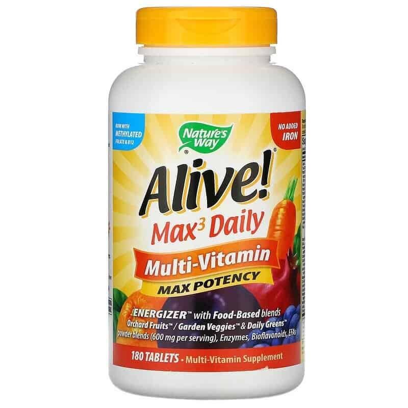 الفيتامينات المتعددة Alive! Max3 Daily من Nature's Way