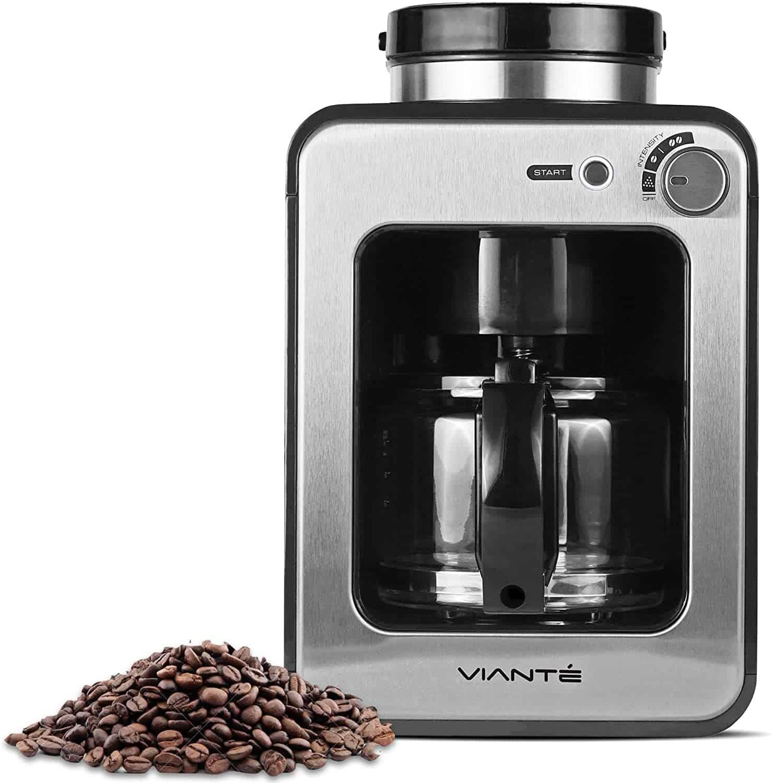 ماكينة تحضير القهوة الصغيرة من فيانتي مع مطحنة مدمجة