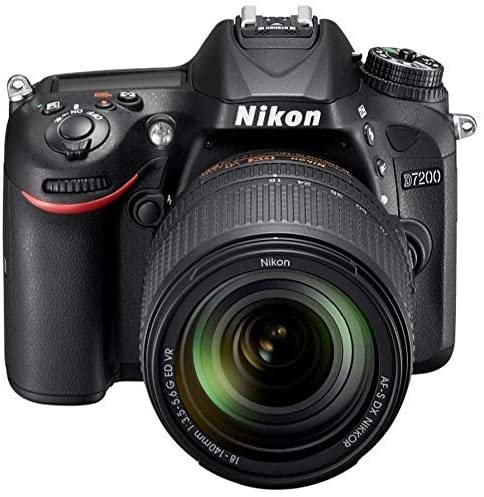 كاميرا رقمية نيكون D7200 - 24.2 ميجا، SLR كاميرا، عدسة 140 ملم
