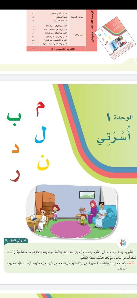 صورة حروف المجموعة الاولى في لغتي