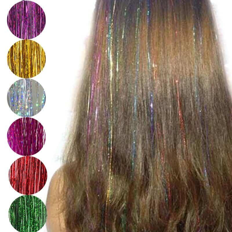 خيوط الشعر الملونه
