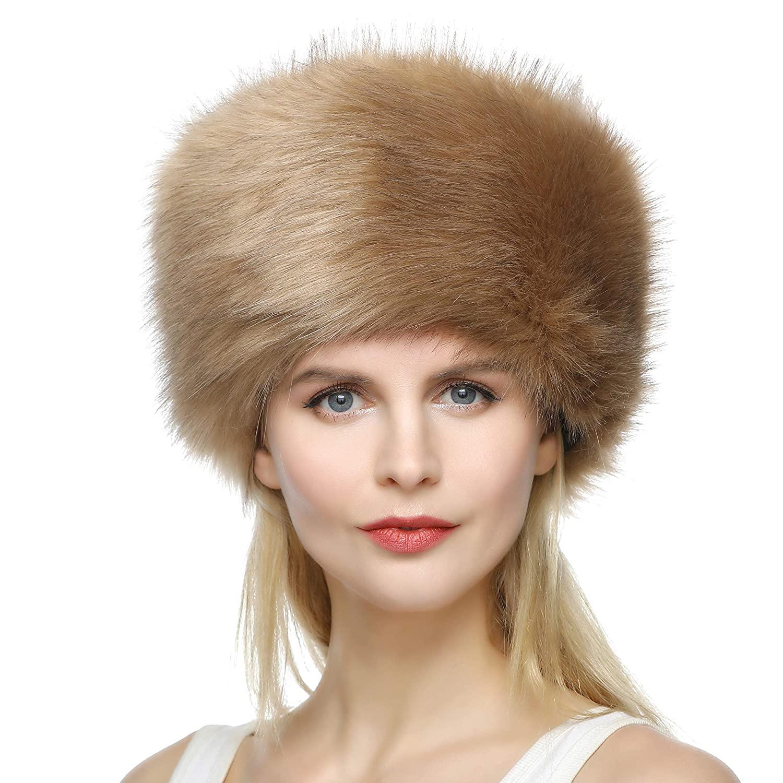 قبعة فرو نسائية
